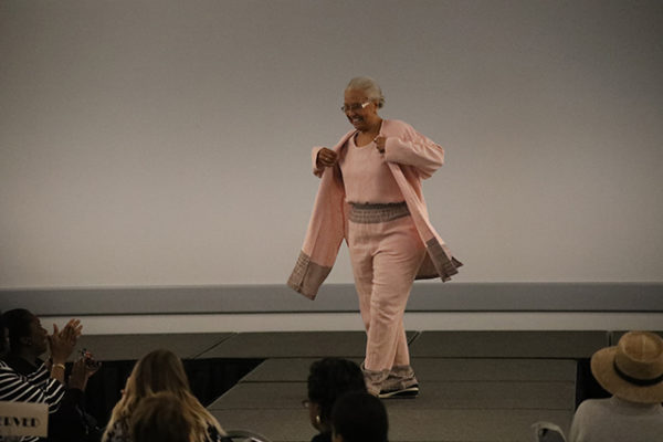 A LifeCare Alliance client walks the runway during the Spring Style Show on Wednesday, June 6, 2018. (Photo by Anthony Clemente, LifeCare Alliance)