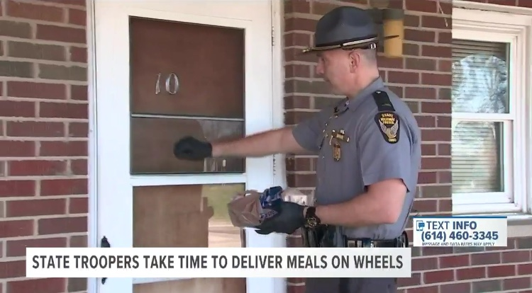 Ohio State Highway Patrol Steps in to Help Deliver Meals on Wheels