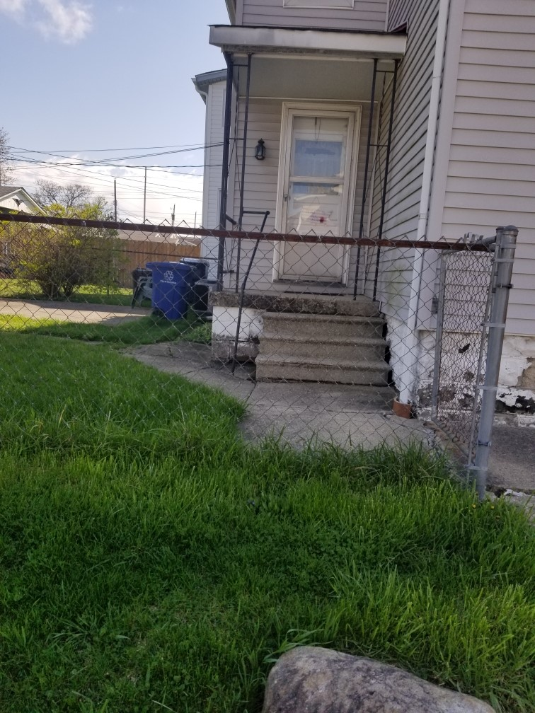 Before Ramp Installation - Porch with steps