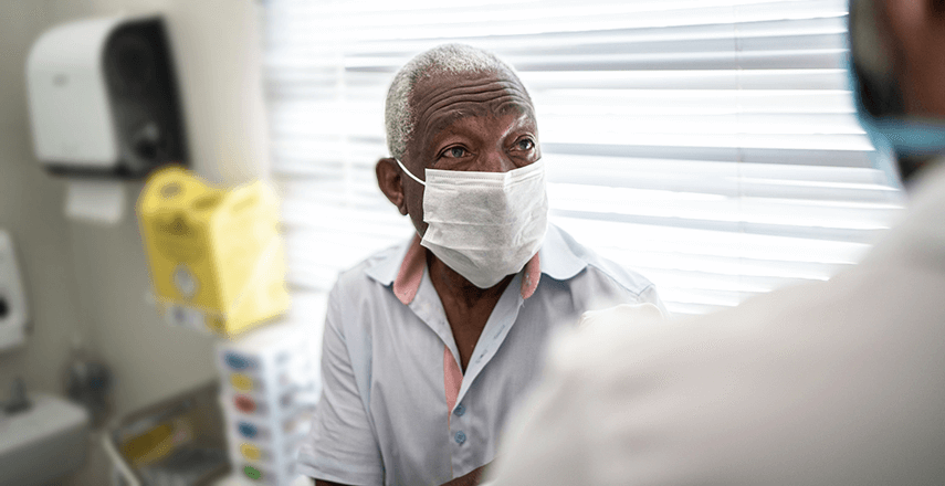 Image of Patient In Doctor's Office Awaiting Vaccination